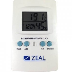 Zeal Temperature and Humidity Digital Hygrometer PH1000